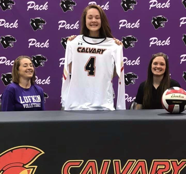 Calvary Volleyball Signs Kennedy Shelton